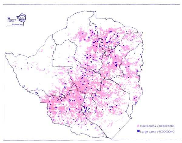 Population Density Map Zimbabwe.A Fisheries Gis For Zimbabwe An Initial Analysis Of The