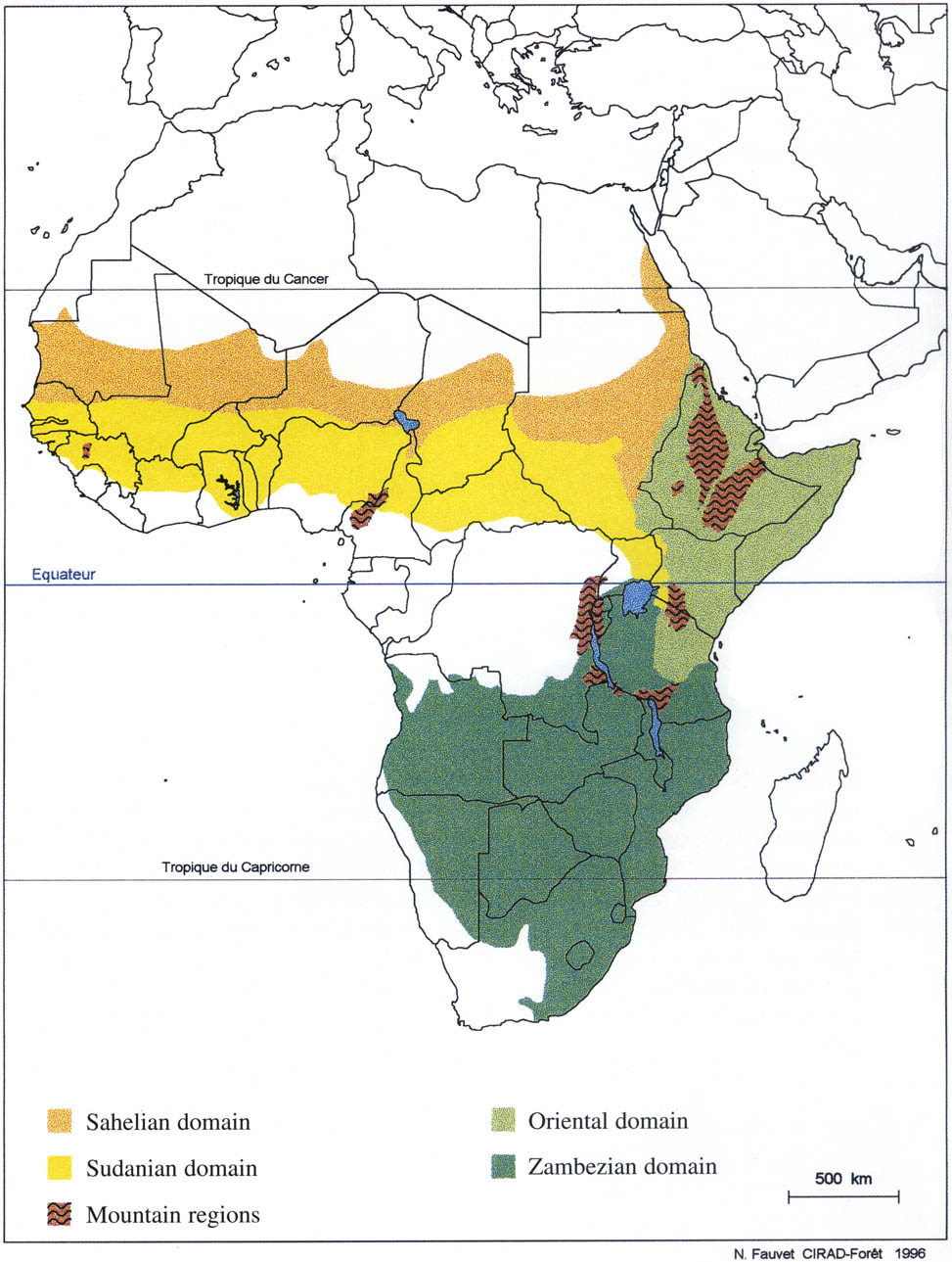 Map Of Africa Vegetation.Chapter Ii Diversity Of Woody Vegetation Formations And Summary