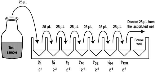 Figure 25 Two Fold Serial Dilutions