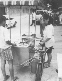 Low-cost fish retailing equipment and facilities in large urban