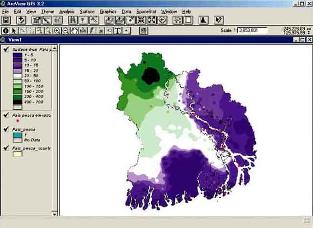 Geographic information systems in fisheries management and