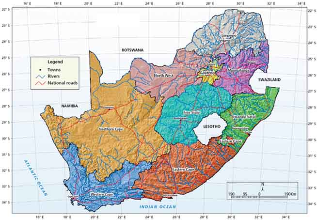 Map Of South Africa 9 Provinces.Fertilizer Use By Crop In South Africa