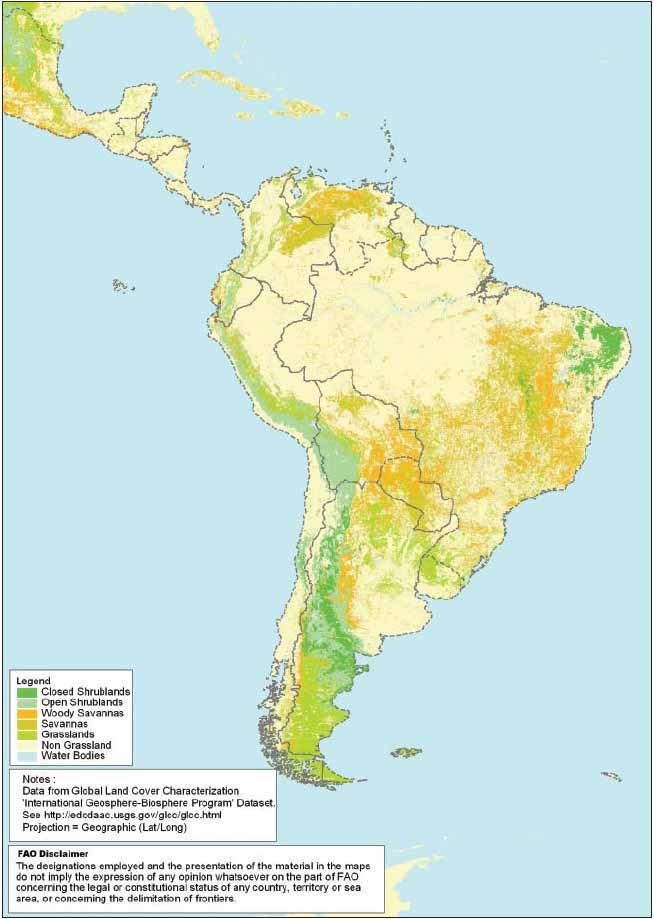 818e5cda2710 Extent of grasslands in Latin America.