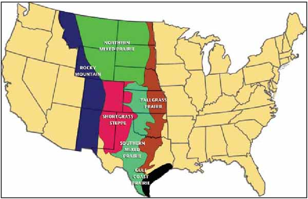 Prairies In North America Map.Grassland Of The World