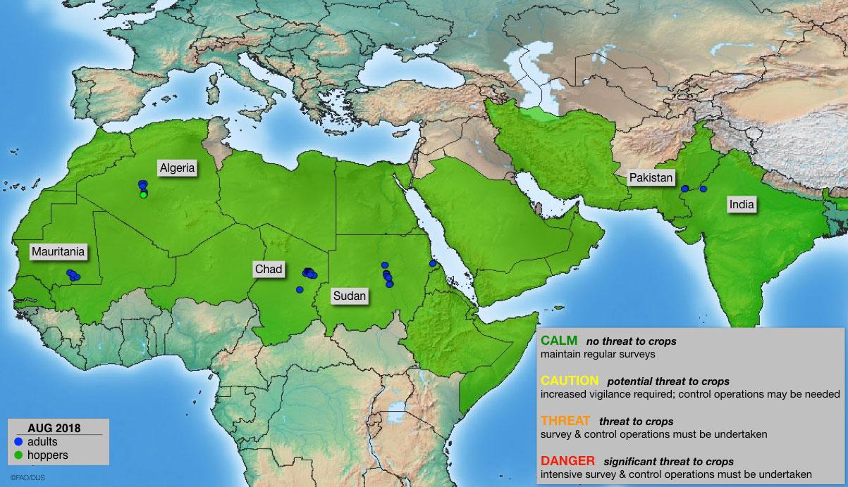 Desert Locust risk maps - 2018