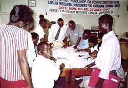 A workshop in Ghana involving various stakeholders