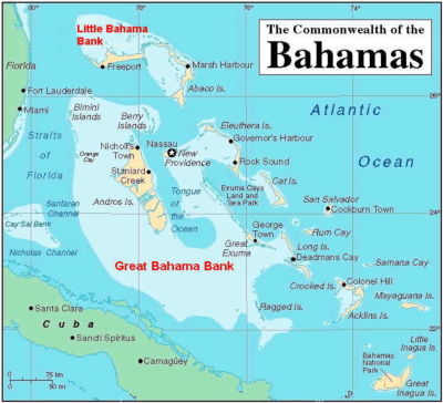 Figure 1- Map of the Bahamas
