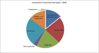Figure 12 – Canada - Composition of total fish food supply -2010