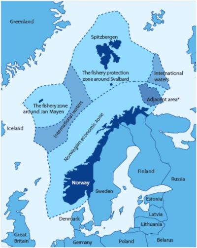 Figure 13 — Norway's fishery zones