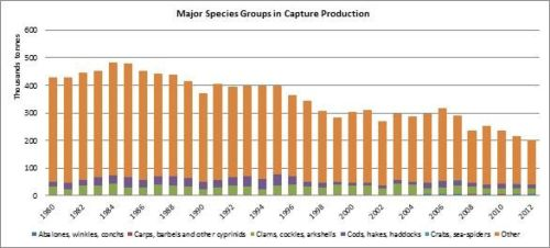 Figure 5 - Italy - Major species groups in capture production