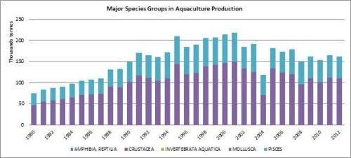 Figure 7 - Italy -Major species groups in aquaculture production