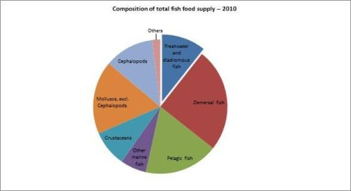 Figure 12 - Italy - Composition of total fish food supply – 2010