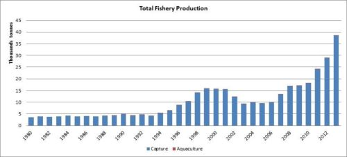 Figure 1 — Ethiopia — Total fishery production