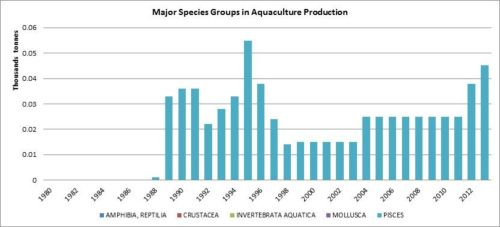Figure 7 — Ethiopia —Major species groups in aquaculture production