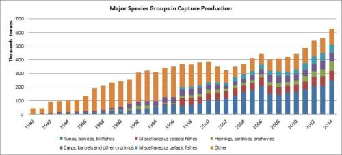 Figure 4 — Iran — Major species groups in capture production