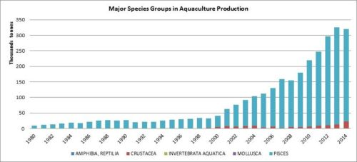 Figure 7 — Iran — Major species groups in aquaculture production