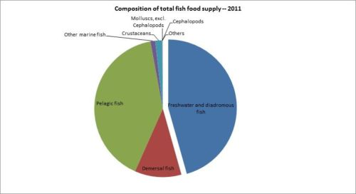 Figure 12 — Iran — Composition of total fish food supply - 2011