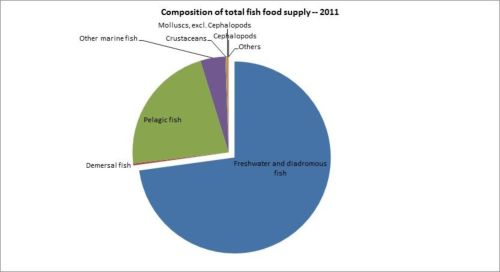 Figure 12 — Zimbabwe — Composition of total fish food supply - 2011