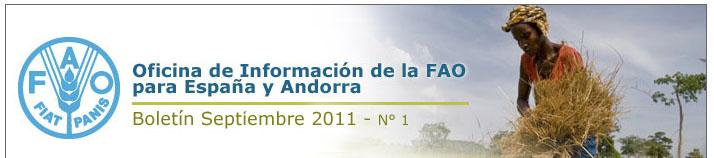 Cabecera FAO -Newsletter Octubre 2011