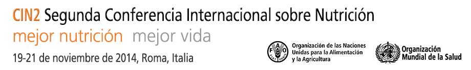 Segunda Conferencia Internacional sobre Nutrición (CIN-2), 19-21 de noviembre de 2014