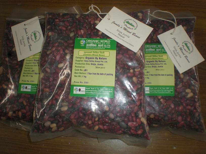 Jumla's Mixed Beans on sale with the Mountain Partnership Product label