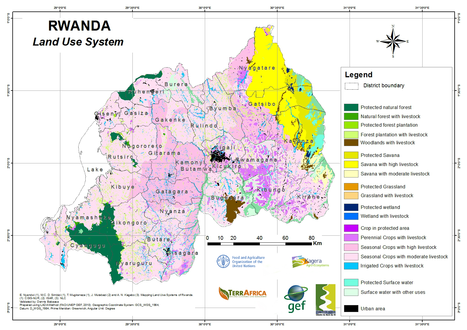Rwanda Kagera Food And Agriculture Organization Of The United - Rwanda map