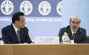 <b>China pledges $50 million to FAO in support of South-South Cooperation</b></p>