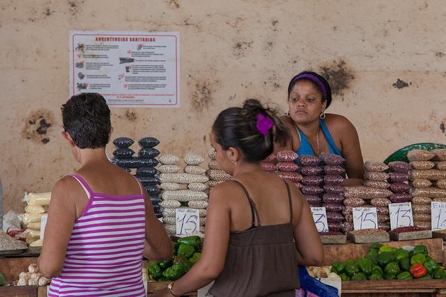 Mercado en Cuba