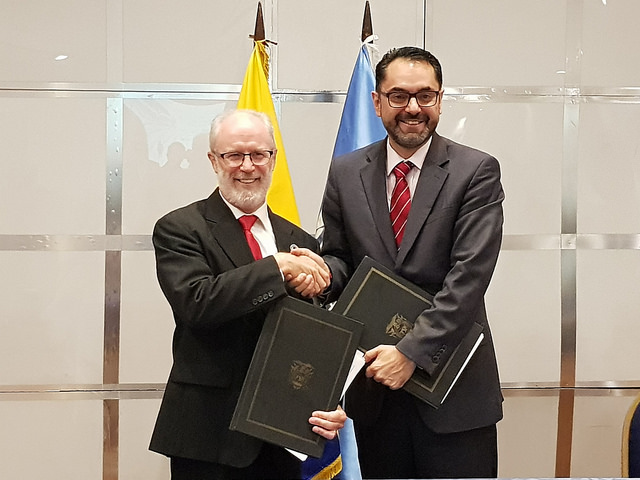 Deputy Minister José Luis Jácome and FAO representative John Preissing signed the Cooperation Agreement as part of the Country Programming Framework 2018-2021