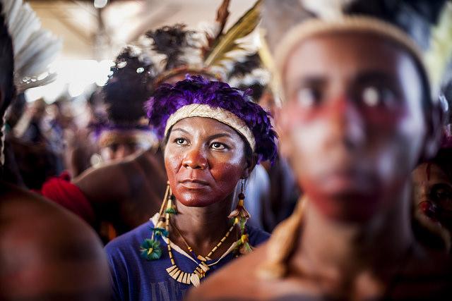 Mujer indígena de Brasil
