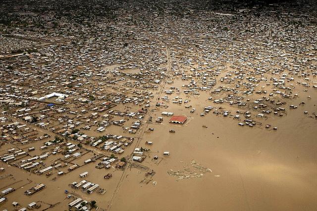 Imagen de Haití tras el paso de la tormenta tropical Hanna, en 2008.