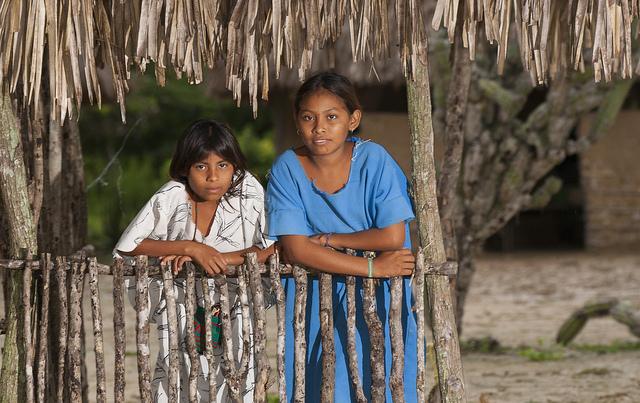 Wayuu girls in Colombia
