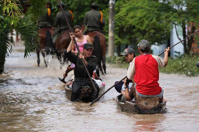 Flooded street in Honda, Colombia, 2008
