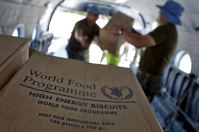 WFP biscuits in Haiti