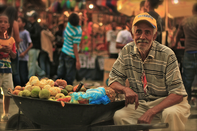 Fruit vendor in the Dominican Republic