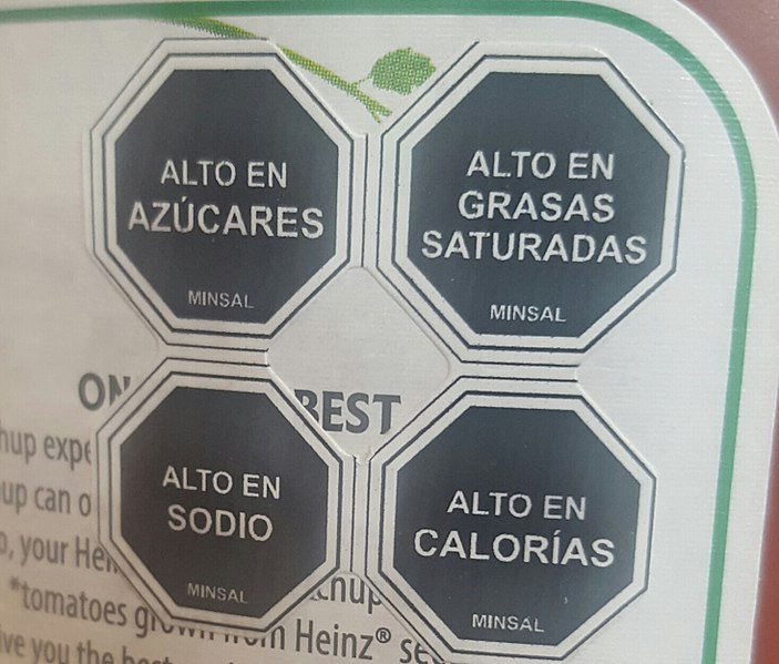 Food labels in Chile