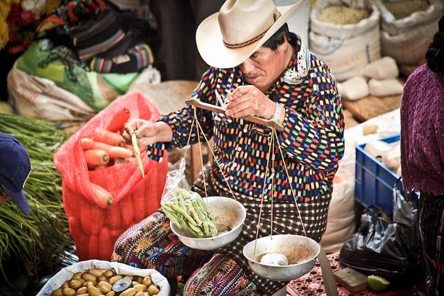 Traditional Mayan Market day in Chichicastenango, Guatemala