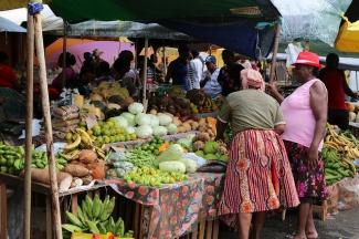 Market in French Guiana