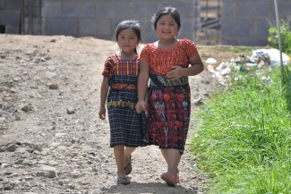 Two girls in a rural area of Guatemala