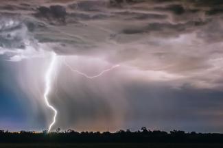 Lightning in Santa Fe, Argentina
