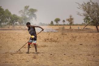 Tilling soil in Senegal