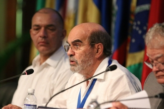 FAO Director-General addressing the Regional Conference in Montego Bay, Jamaica.