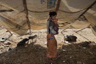 Woman in the Sagaing region, Myanmar