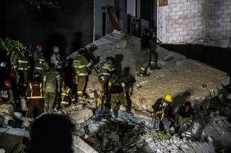Operación de rescate de víctimas tras el sismo en Ciudad de México