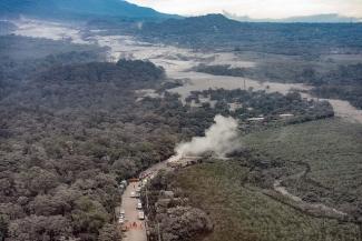 Imágenes aéreas de la zona afectada