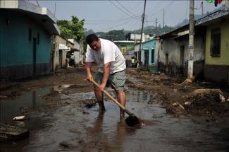 Imagen de archivo de inundaciones en Honduras, 2010.
