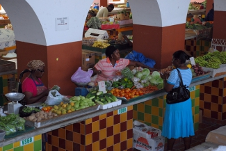 Market in Bridgetown, Barbados.