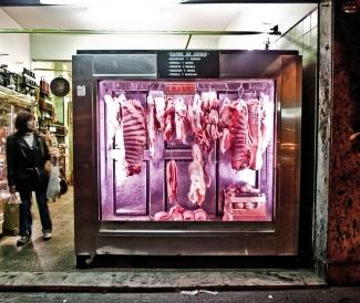 Butcher shop in Argentina