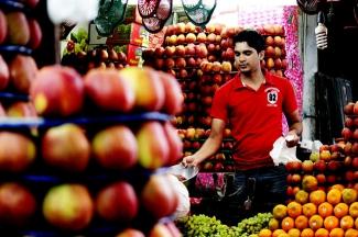 Fruit Vendor in Mysore, India