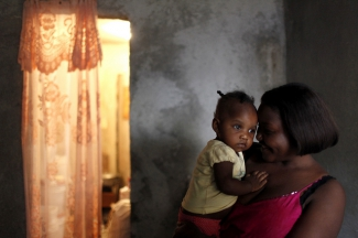 Mother and daughter in Delmas, Haiti